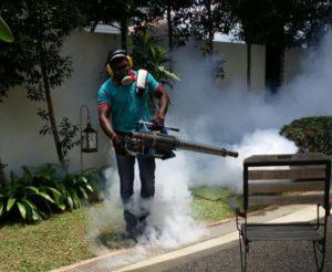 Killem Pest Control Officer Spraying